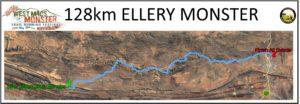128km Ellery Monster Course Map
